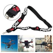 Black RC Adjustable Length Lanyard Transmitter Strap Polyester Lanyard Transmitter Neck Strap For JR PROPO 450mm(China)