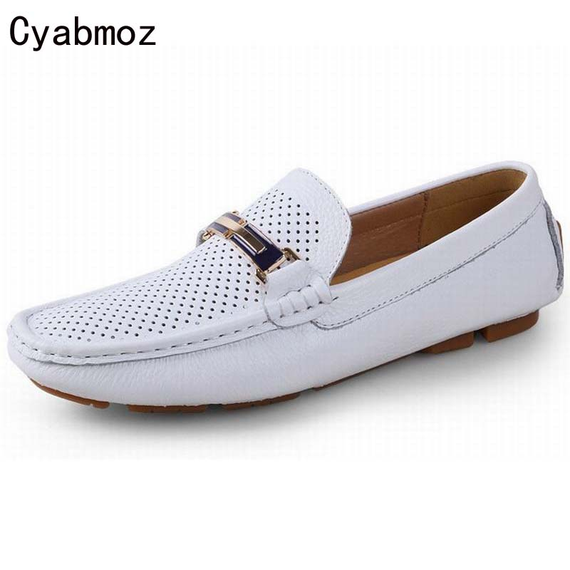 100% GENUINE LEATHER MEN SHOES,handmade big size Driving shoes,casual shoes,breathable moccasin hole summer Soft Loafers Oxfords genuine leather men casual shoes summer loafers breathable soft driving men s handmade chaussure homme net surface party loafers