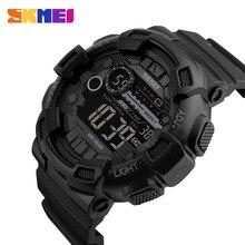 SKMEI Brand Men Спортивные часы Army 50M Водонепроницаемые светодиодные цифровые часы Секундомер Dive Swim Outdoor Shock Военные наручные часы