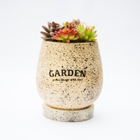 New Arrival Garden Grows Container Quality Artificial Flowers Pot Ink Korean Style Desktop Bonsai For Office