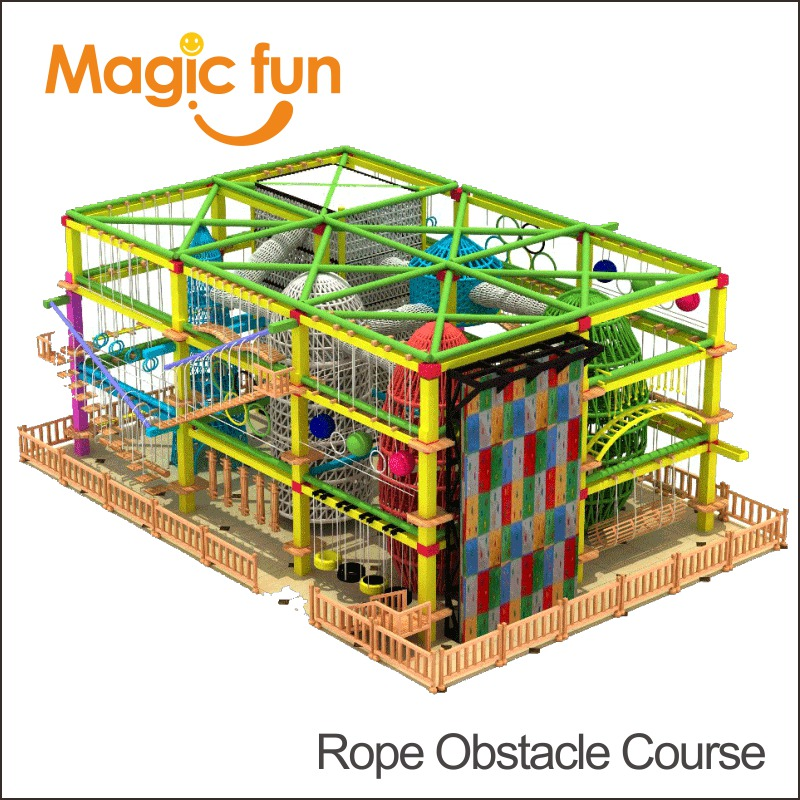 MAGIC FUN High Ropes Challenge Course Outdoor Adventure Equipment Challenge Design Rope Course