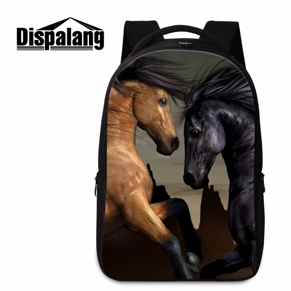 ФОТО large capacity back to school backpacks for boys teenagers schoolbags horse pattern bookbags cool day pack for children travel