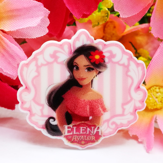 7bbe0a2c6 40pcs/Lot 33x30mm Princess Elena Planar Resin Cabochons Flatback Flat Back  Hair Bow Center Frame