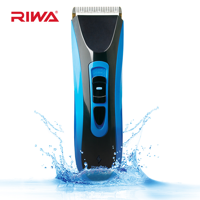 RIWA Professional Hair Clipper IPX7 Waterproof Rechargeable Hair Trimmer Cordless Hair Cutting Machine RE-750A waterproof rechargeable hair trimmer with accessories set black red 220v ac