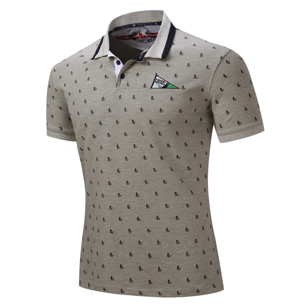 Men Clothes 2018 Polo Shirt Block Casual Button Splicing Pullover Short Sleeve T-shirt Top Blouse For Male Drop Shipping