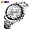 SKMEI Для мужчин кварцевые часы лучший бренд роскошных Спорт на открытом воздухе все Сталь Водонепроницаемый Бизнес часы Relogio Masculino 1366