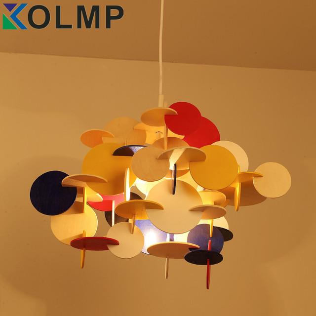 Lovely Lovely Creative Building Block Wood Lamp For Kids Bedroom Nordic Hanging  Lamp Bau Pendant Multi Large Gallery