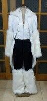 2016 Bleach The Tercera Espada No.1 Coyote Starrk Resurreccion Form White Kimono Cosplay Costume