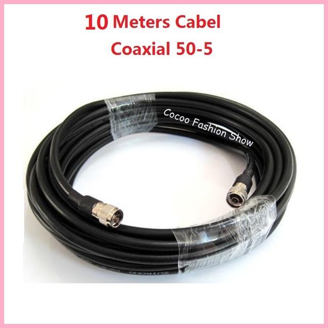 10 Metros 50-5 Conexão Cabo Coaxial Para 2G 3G GSM W-CDMA CDMA DCS Repetidor Impulsionador da Antena-N/K conector incluído