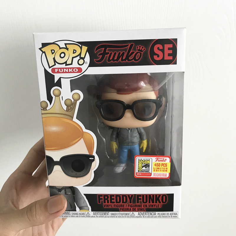 2018 SDCC Exclusive 450pcs Funko pop Official STRANGER THINGS FREDDY FUNKO STEVE LE Vinyl Action Figure Collectible Model Toy funko pop super heroes batman 01 vinyl figure collection model toy doll 10 5cm