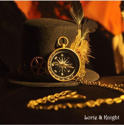 Női Steampunk Top Hat Vintage Fedoras kalap fogaskerék & óra toll - Jelmezek