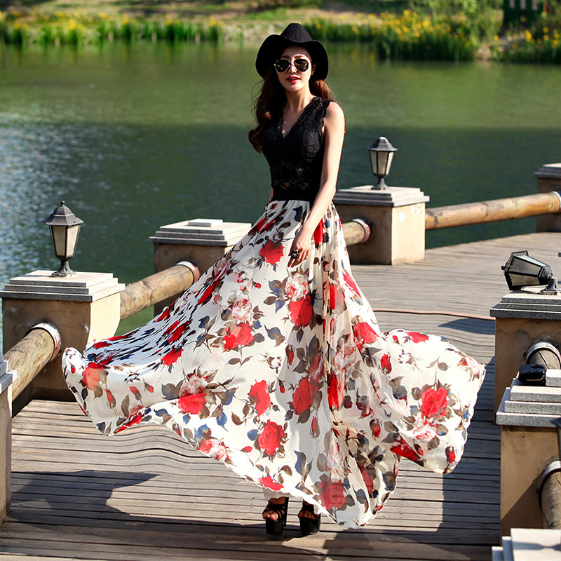 Aliexpress.com : Buy 2017 New fashion summer long skirt women's ...