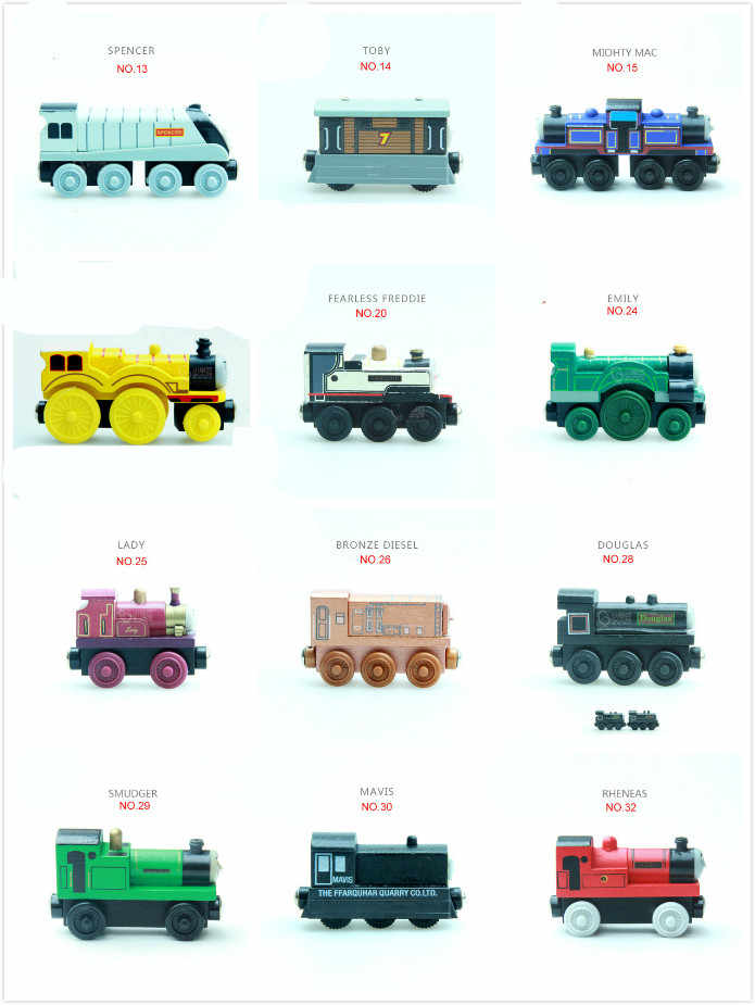 New Wood Train Magnetic Trains Toy The Tank Engine Trackmaster Toy For Children Kids Small Car Xmas Gift