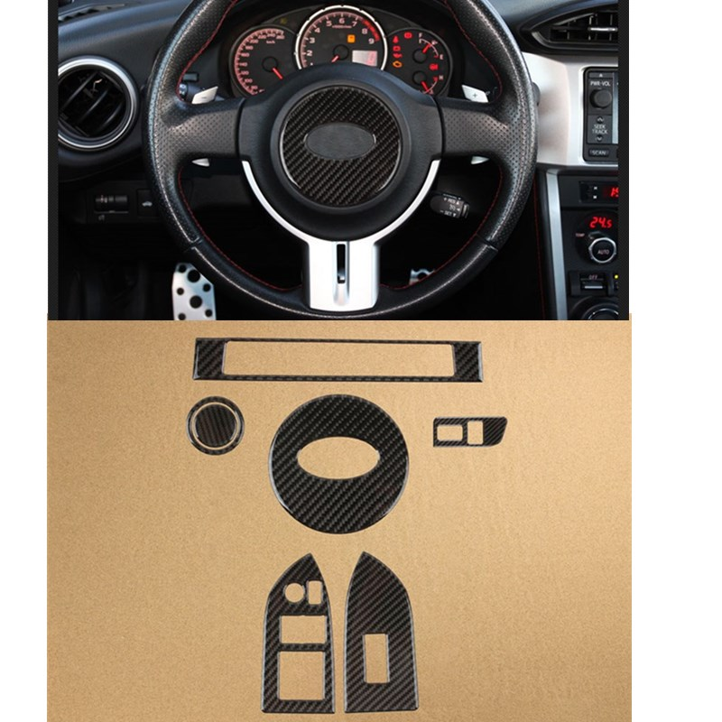 Real Carbon Fiber Stickers 3D Version For Subaru BRZ Toyota 86 Interior Car Accessories