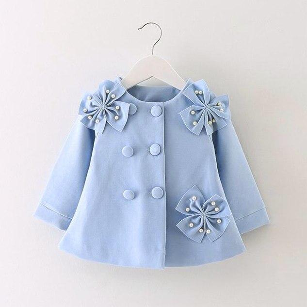 Girl Baby Jacket Clothing Spring Flower Autumn Wind Coat Pri