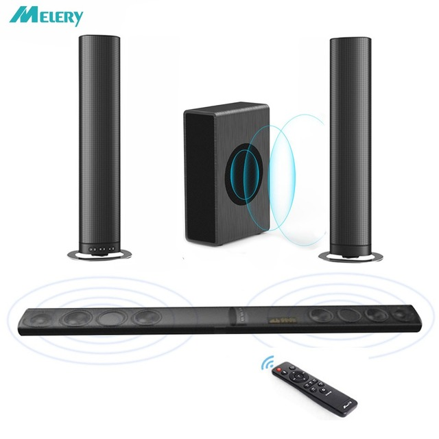 Sound Bar Wireless Soundbar Detachable Tv Speakers Bluetooth Home Theater 5 1 Woofer Surround System For