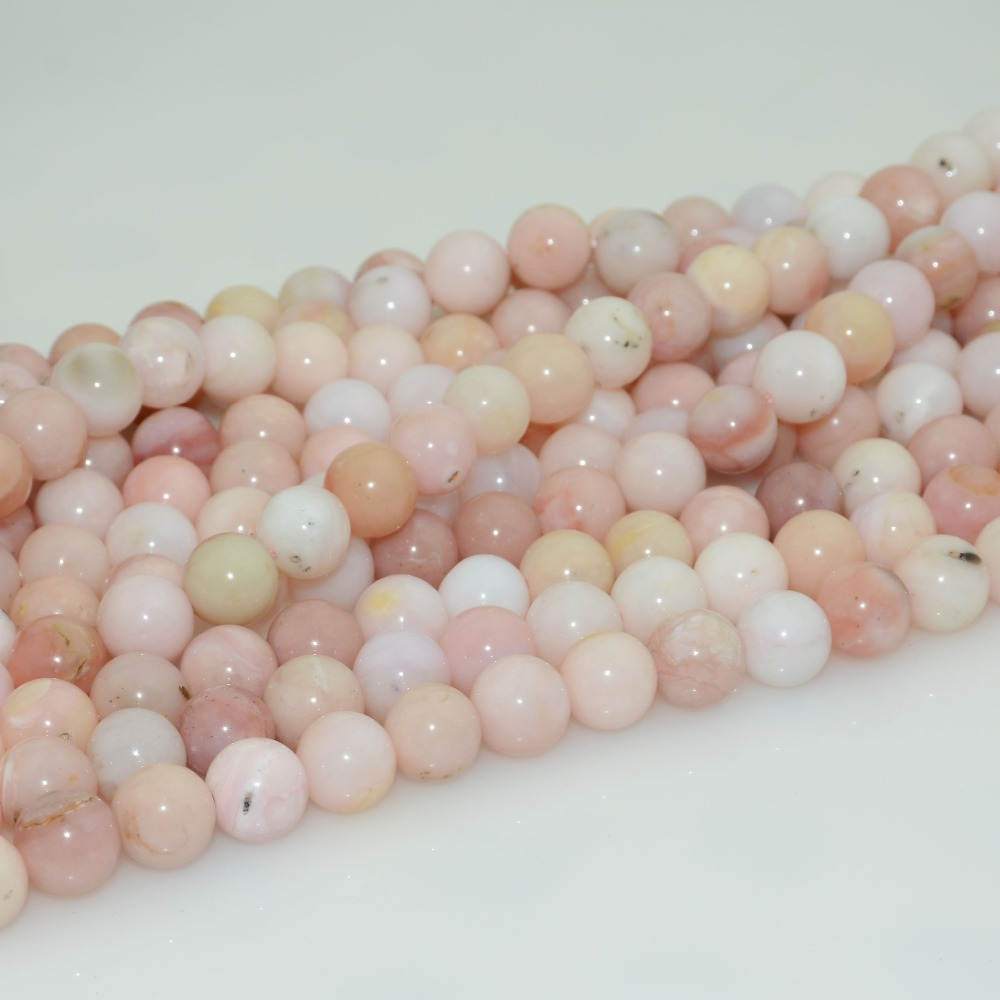 8mm,10mm Natural Peruvian Pink Opal Loose Round Beads 6mm Fine Jewelry Jewelry & Accessories