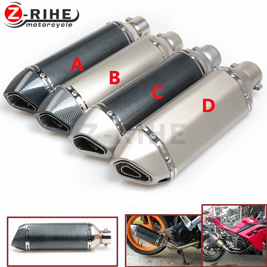 for Universal 38-55MM Motorcycle Exhaust Muffler Pipe Stainless Steel Scooter Motorbike Pipe z900 z100 z250 s1200 f800