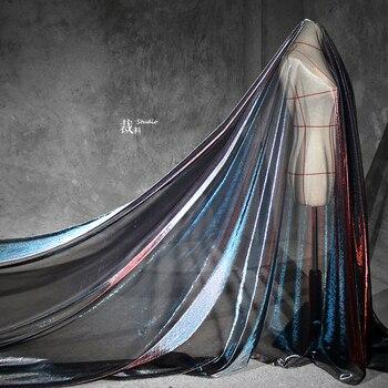 Tela con textura de malla hueca para mujer, tejido con perspectiva de...