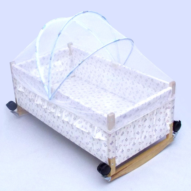 1pc summer white Kids Baby cot bed  insect mesh crib net protector cover