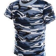 Морской камуфляж пустыня тренировочный джунгли Камуфляжный костюм в стиле милитари полевая тренировочная Мужская камуфляжная футболка с короткими рукавами S-4XL