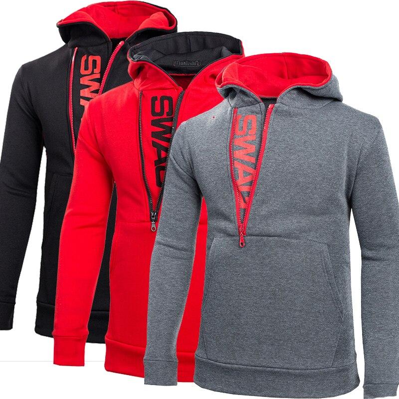6d5dbde80d7 5XL Oversized Hoodie Men Cheap Hooded Sweatshirt Letter Print Side Zip Jackets  Mens Diagonal Zipper Hoodies Plus Size