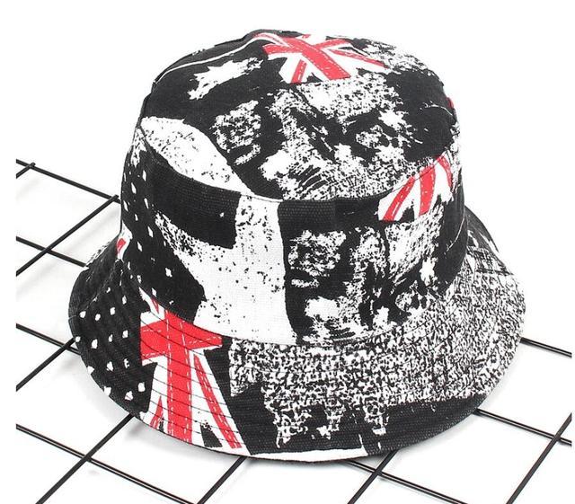 3d49a15b4e8 2018 Two Side Reversible flag Bucket Hat cap Unisex Fashion Bob Caps Hip  Hop Gorros Men