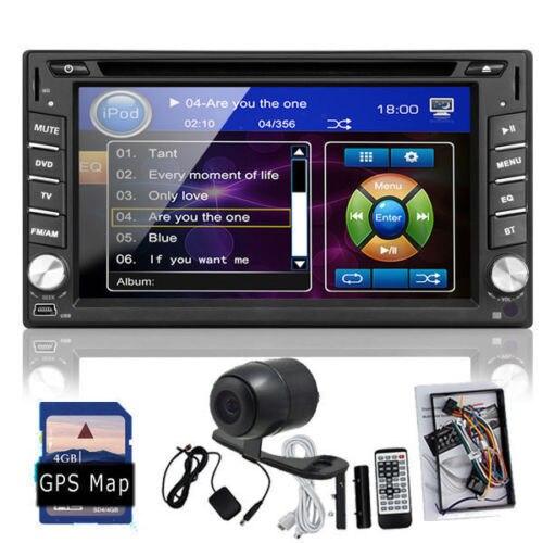 Reverse Camera 6 2 2 Din Car font b GPS b font Navigation Stereo DVD Player