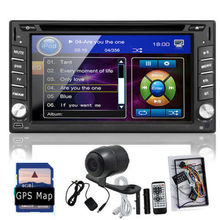 """Cámara del revés de 6.2 """" 2 Din Car navegación GPS Stereo reproductor de DVD Bluetooth iPod Radio FM AM receptor MP3 Indash unidad principal libera el mapa"""