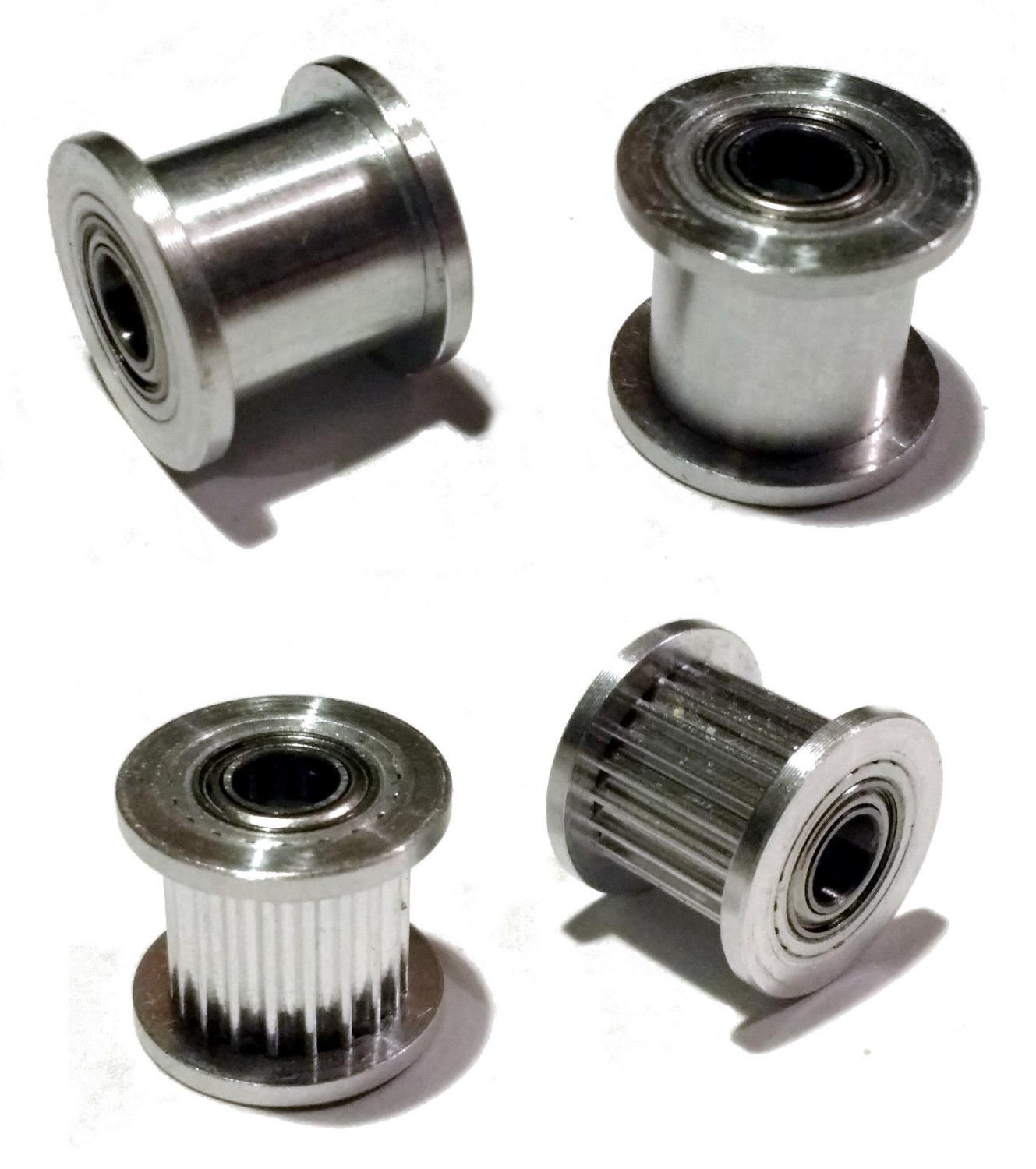 Toothed and Smooth 5mm Bore for 10mm wide belt 3D Printer GT2 Idler Pulley