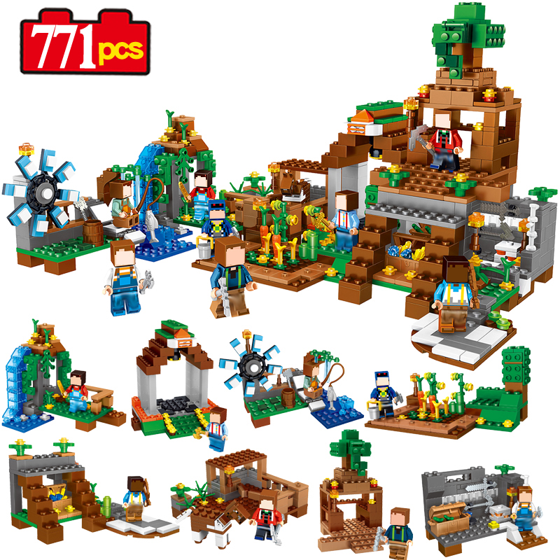 Minecrafted Manor Estate Toys Compatible Legos City Mini Minecraft Figures Model Building Block Toys For Children Gift 771pcs loz mini diamond block world famous architecture financial center swfc shangha china city nanoblock model brick educational toys