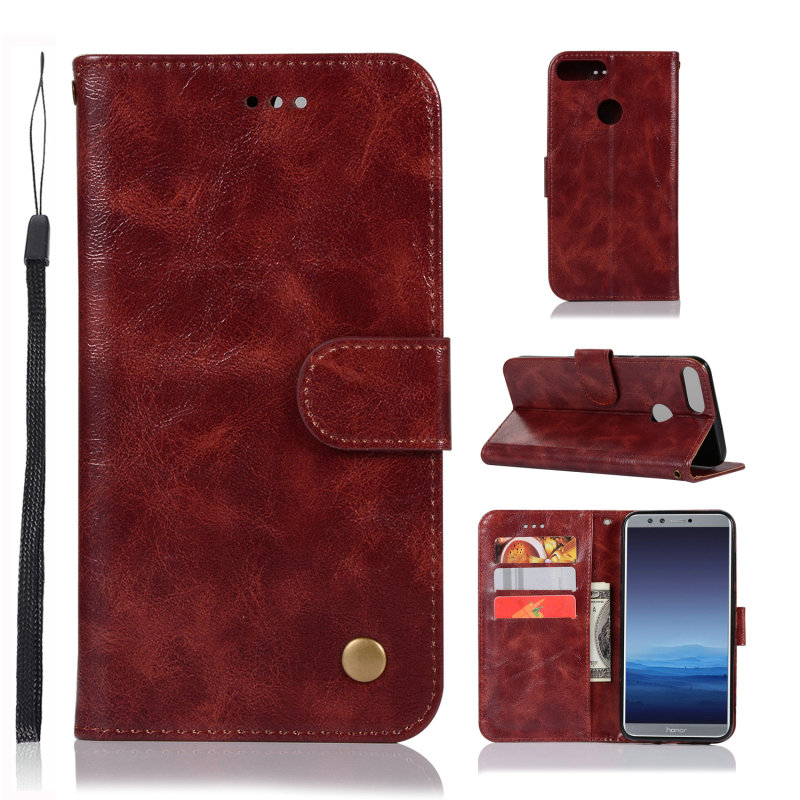 Huawei Enjoy 7s Case Funda Huawei P Smart Cases 5.65 Luxury Leather Silicone Back cover for Huawei P-Smart Cover Enjoy7S 7 S ...