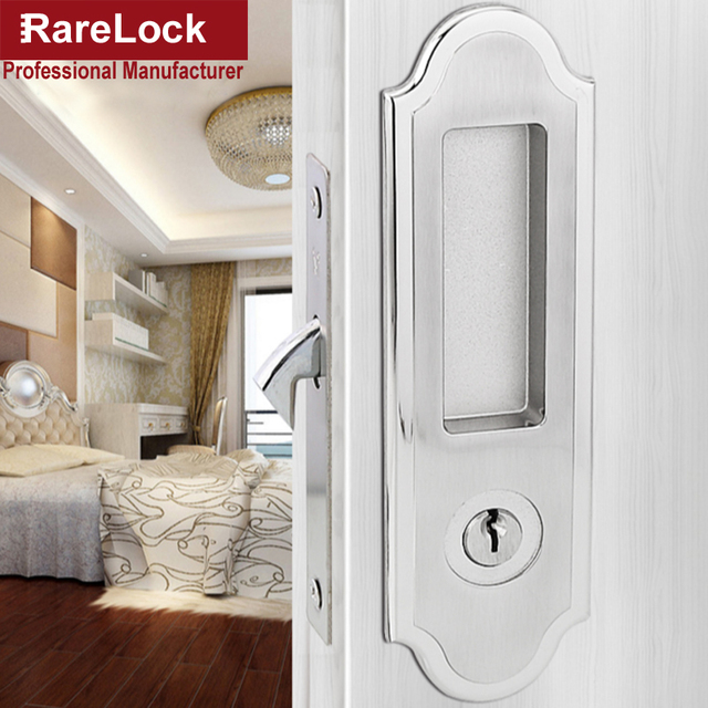 Lhx Mms420 Silver Or Golden Interior Sliding Door Lock For Office