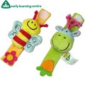 Baby toy Baby Plush Wrist Rattles Toys Color three-dimensional animal Bee&donkey Wrist Strap toys