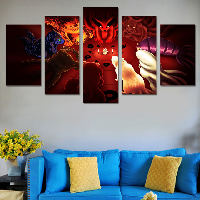 Pice Toile Affiches DArt Mur Anime Animation Monstre Peinture