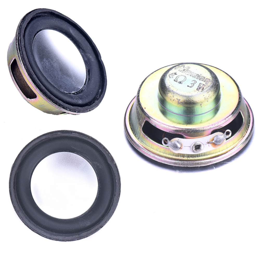 1Pc Diameter 40Mm 4Ohm 3W Loudspeaker Audio Portable Speaker Rubber&Amp;Metal Full Range Speaker Magnetic DIY Stereo Box Accessories