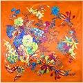 90 cm * 90 cm Nova chegada 2016 cor sólida lenços de seda chiffon primavera e no outono cor sólida das mulheres cachecol cachecol frete grátis