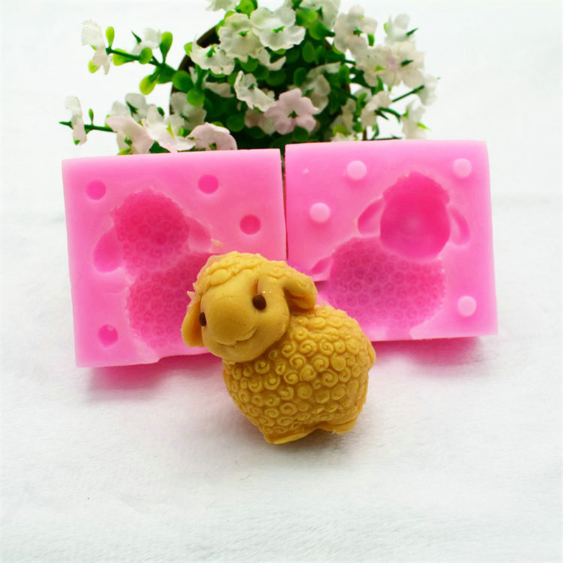 Romantic Lxyy Shaun Sheep 3d Three-dimensional Shape Silicone Soap Mold Fondant Chocolate Cake Decorating Tools Cake Molds