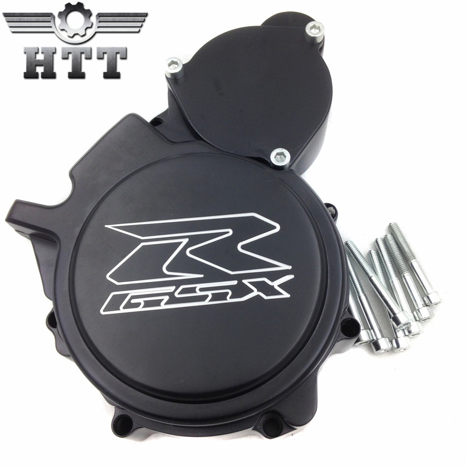Aftermarket free shipping motorcycle part Engine Stator cover  for Suzuki GSXR600/750 2006 2007 2008 2009-2013 BLACK Left side aftermarket free shipping motorcycle parts eliminator tidy tail for 2006 2007 2008 fz6 fazer 2007 2008b lack
