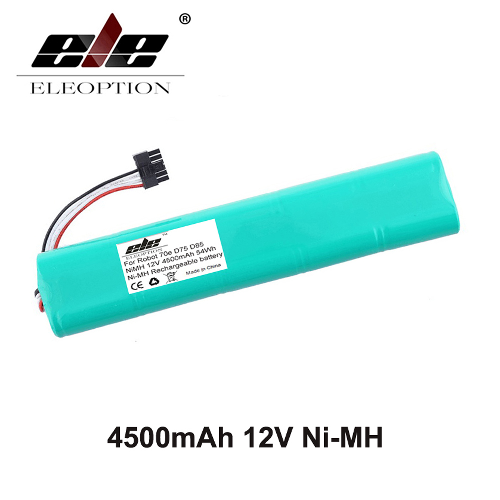 ELEOPTION NI-MH 12V 4500mAh Replacement battery for Neato Botvac 70e 75 80 85 D75 D8 D85 Vacuum Cleaner battery аккумулятор d ansmann r20 10000 mah ni mh бочка 2 шт 5030642