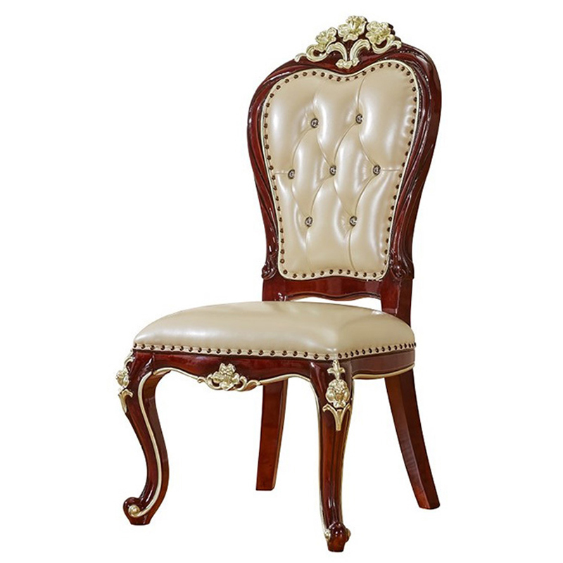 Magnificent Hot Offer Solid Wood European Style Leather Fabric Dinning Beatyapartments Chair Design Images Beatyapartmentscom