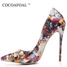 ecd477be1 Cocoafoal امرأة عالية الكعب فالنتين أحذية حجم كبير 33 43 44 45 ذهبية 12  سنتيمتر ارتفاع