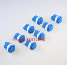 BLUE NEW CHINA REYANN 8PCS/LOT 33MM ARCADE PUSH BUTTONS WITH BUILD-IN MICROSWITCH FOR MAME JAMMA ARCADE FIGHTING VIDEO GAME DIY
