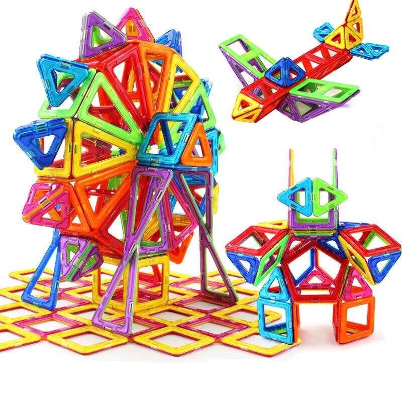 Fast shipping 215PCS Magnetic Building Blocks Baby Toys Model & Building Toys Brick designer Enlighten Bricks Magnetic toys