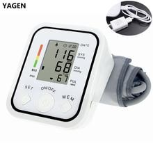 Tonómetro Digital portátil para medir la presión arterial en la parte superior del brazo, Monitor de presión arterial, esfigmomanómetro