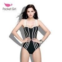 Pocket Girl 2016 Biquini Suittop Swimwear Mulheres Pad Bikini Set Maio Impressao Maio Top Inferior Maillot