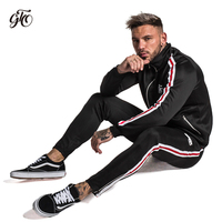 Gingtto Tracksuit Men Sets Track Pants Sporting Suits Mens Clothing Streetwear Casual Outwear Elastic Big Size Hombre Completo