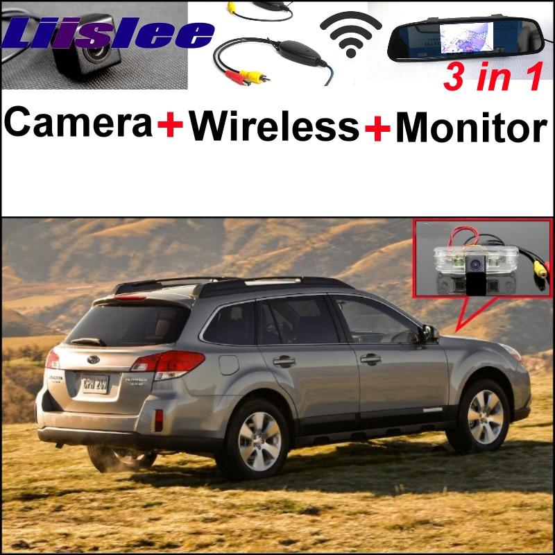 Беспроводной приемник + 3 в 1 специальный Камера заднего вида + зеркало монитор DIY для парковки системы для Субару Аутбэк Аутбэк Спорт