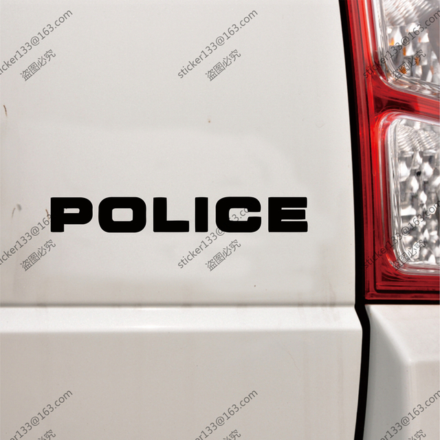 Police letters funny car truck decal bumper sticker windows vinyl die cutchoose size and