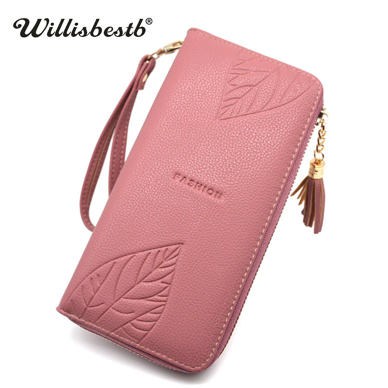 2018 New Brand Design Ladies Wallet Female Long Zipper Clutch Leather Coin Purse For Women Wallets Card Holder Feminina Carteira new fashion women leather wallet deer head hasp clutch card holder purse zero wallet bag ladies casual long design wallets